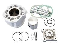 cylinder kit Polini aluminum racing 80cc 50mm for Piaggio / Derbi engine D50B0