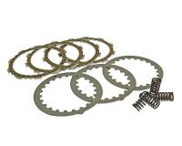 clutch plate / disc set sport, cork and steel plates incl. springs for Minarelli AM