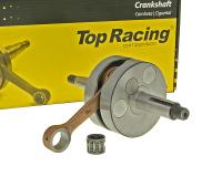crankshaft Top Racing full circle high quality for Minarelli AM, Generic, KSR-Moto, Keeway, Motobi, Ride, CPI, 1E40MA, 1E40MB