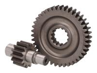 secondary transmission gear up kit Polini 14/40 for Morini AC
