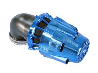 air filter Polini D.32 air box 32mm 90° chromed blue