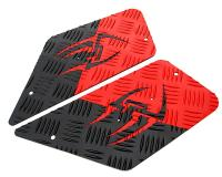 foot plates Opticparts DF Style 16 red / black aluminium for CPI, Keeway
