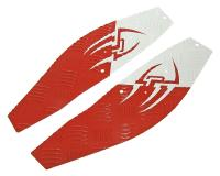 foot plates Opticparts DF Style 16 white / red aluminium for Gilera Runner (08/05-)