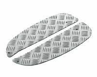 foot plates Opticparts DF checkered aluminium for Kymco Super 9