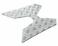 foot plate Opticparts DF checkered aluminium for Peugeot Vivacity (-08)