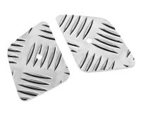 pillion foot plates Opticparts DF checkered aluminium for CPI, Keeway