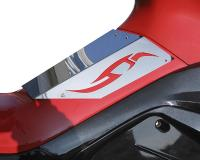 fuel tank cover ODF Tribal polished steel / mirrored glass effect for Gilera Runner (-08/05)