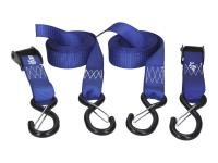 tie down straps 25mm x 3.0m with safety hooks - 2 pieces