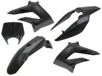 fairing parts black for Derbi Senda 2011-, Gilera RCR, SMT