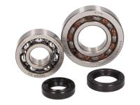crankshaft bearing set for Aprilia Scarabeo, Piaggio Liberty, Zip, Vespa ET4 50 4T (1st series, 25mm bearing seat)