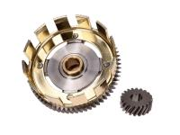 Tuning lightweight clutch basket stage 1 w/ sprocket 65/20 for Simson S51, S53, S70, S83, SR50, SR80, KR51/2 Schwalbe