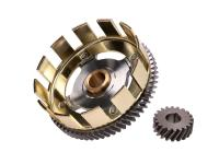 Tuning lightweight clutch basket stage 2 w/ sprocket 65/20 for Simson S51, S53, S70, S83, SR50, SR80, KR51/2 Schwalbe