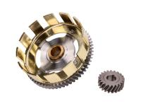 Tuning lightweight clutch basket stage 2 w/ sprocket 62/21 for Simson S51, S53, S70, S83, SR50, SR80, KR51/2 Schwalbe
