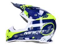 helmet Motocross Trendy T-902 Mach-1 blue / yellow - different sizes