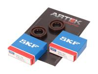 crankshaft bearing set ARTEK K1 racing SKF polyamide for Derbi Senda