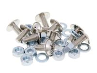 screw set Buzzetti cross slot M6x13 with washers and nuts - 10 pcs each