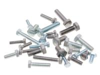 hex cap screws / tap bolts DIN933 zinc plated or stainless steel - packs