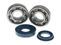 crankshaft bearing set Naraku SKF metal cage for Minarelli CW, MA, MY, CA, CY