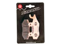brake pads Naraku sintered for Keeway, Kymco, Peugeot, TGB