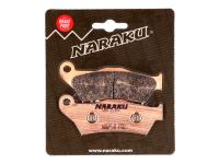 brake pads Naraku sintered for MBK Skyliner, Yamaha Majesty, Piaggio X9, Gilera Nexus, GP800, Suzuki UH Burgman 125, 150