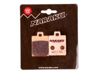 brake pads Naraku sintered for Gilera, Piaggio, Vespa