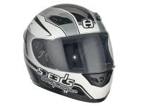 helmet Speeds full face Performance II Racing Graphic silver