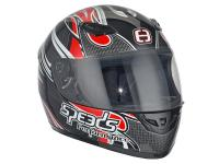 helmet Speeds full face Performance II Tribal Graphic red