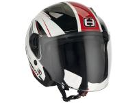 helmet Speeds Jet City II Graphic white / red