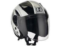 helmet Speeds Jet City II Graphic white / silver