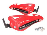 handguards / hand protector set Speeds red for handlebar with M8 inside thread