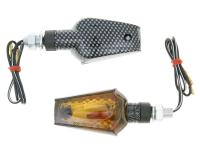 indicator light set M10 thread carbon look Beamer smoked, short version