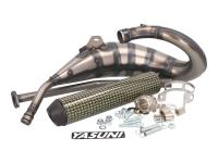 exhaust Yasuni Cross HM MAX yellow carbon fiber for Aprilia RX, SX, Derbi R, SM, Gilera RCR, SMT