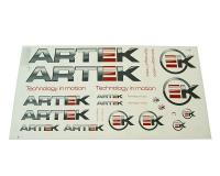 sticker set ARTEK grey-red 44x23cm