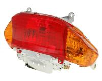 tail light assy - orange turn signal lens - E-marked for Kymco Filly, Baotian BT49QT-9