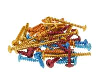 fairing screws anodized aluminum - set of 12 pcs