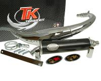 exhaust Turbo Kit Bajo RQ chrome for HM CRE 50 -2006, Factory YR 50