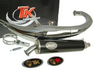 exhaust Turbo Kit Bajo RQ chrome for Derbi Senda DRD (06-)