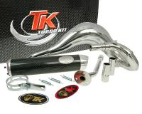 exhaust Turbo Kit Bufanda RQ chrome for Beta RK6 (Minarelli AM6)