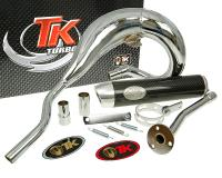 exhaust Turbo Kit Bufanda RQ chrome for Aprilia RX 50 (99-05)