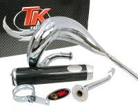 exhaust Turbo Kit Bufanda RQ chrome for Derbi Senda (00-), Aprilia RX/SX, Gilera RCR/SMT