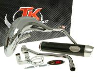 exhaust Turbo Kit Bufanda RQ chrome for MH Furia RYZ 50 (03-12). Peugeot XP7