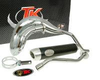 exhaust Turbo Kit Bufanda RQ chrome E-marked for Derbi Senda DRD Pro 06-