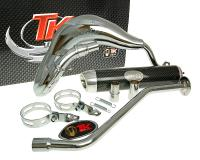 exhaust Turbo Kit Bufanda RQ chrome for Generic Trigger, Keeway, KSR-Moto, Ride, Explorer