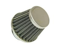 air filter Power 35mm carburetor connection chrome