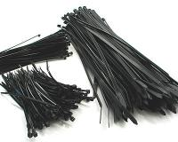 cable ties black various sizes - sets of 100 pcs each