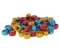nut set anodized aluminum red, gold, blue M5-M8