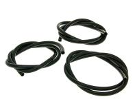 fuel hose black chloroprene rubber 1m