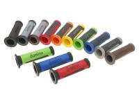 handlebar grip set Domino A350 on-road two-colored open end grips