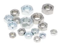 hex nuts zinc plated / galvanized or stainless steel