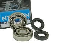 crankshaft bearings Naraku heavy duty left and right incl. oil seals for Derbi EBE, EBS, D50B0